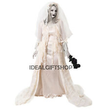 WHITE MISS HAVISHAM BRIDE VICTORIAN FANCY DRESS HALLOWEEN WEDDING DRESS GOTHIC