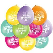 10 x assorted happy birthday party airfill balloons 1st to 10th