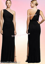 $395 Laundry By Shelli Segal Beaded One Shoulder Twist Knot Back Jersey Gown
