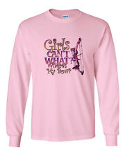 Girls Can't Do What Where's My Bow? Long Sleeve T-Shirt Bow and Arrow Hunting