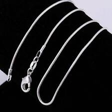 Sterling Silver Necklace Snake Chain 925 Italy 2mm Free Shipping