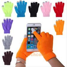 Women Men Touch Screen Soft Cotton Winter Gloves Warmer Smartphone Mobile Phone