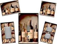 WINE BOTTLES ON SHELF - TUSCAN HOME DECOR LIGHT SWITCH PLATE
