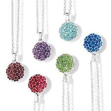 Pave Birthstone Color Pendant Necklace