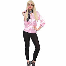 1950s Retro Classic Movie Pink Ladies Jacket Costume Party Dance Fancy Dress