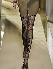Fashion Runway Sexy 120D Chrysanthemum Flower Print Opaque Pantyhose Tights #Q66
