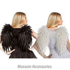 A387 Angelic Black White Adult Butterfly Fairy Angel Halloween Costume Wings