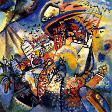 MOSCOW I CITYSCAPE BUILDINGS POLLUTION 1916 PAINTING BY WASSILY KANDINSKY REPRO