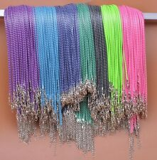 Double color Lobster Clasp Korea Wax Cords Line Cord Necklace  2.0mm