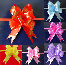 Pretty Flower Bow Wrap Pull Ribbon Plastic Decoration Gift Wrapping Supplies