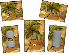 PALM TREE IN PARADISE #2 - TROPICAL HOME DECOR LIGHT SWITCH PLATE