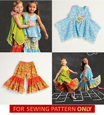SEWING PATTERN! MAKES GIRLS BOUTIQUE STYLE TOP~PANTS! TODDLER 2 TO CHILD 8! GIRL
