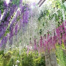 12x Artificial Silk Wisteria Fake Garden Hanging Flower Vine Home Wedding Decor