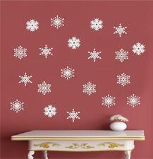 Snowflakes Winter Christmas Decor Vinyl Decal Wall Stickers Art Decorations
