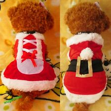 2014 Pet Puppy Dog Christmas Clothes Santa Claus Costume Outwear Coat Apparel