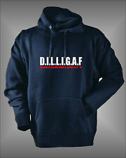 DILLIGAF- DOES IT LOOK LIKE I GIVE A F*** MENS OFFENSIVE FUNNY HOODIE SWEATSHIRT