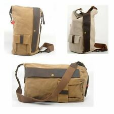 Men Casual Messenger Bag Tote Women Shoulder School Bookbag Travel Bag Canvas