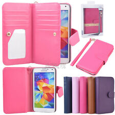 Premium Leather Women Handbag Flip Wallet Phone Case for Samsung Galaxy S4 S5