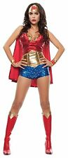 Sexy Halloween Starline Adult Wonder Lady Woman Costume Outfit w Cape