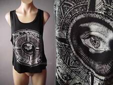 Symbolic All Seeing Eye Astrology Zodiac Illuminati Black Top 109 df Shirt M