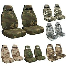 CC Jeep Wrangler TJ / YJ Camouflage Seat Covers with Design