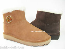 New Michael Kors Women Winter Ankle Boots Booties Shoes Brown Walnut Coffee