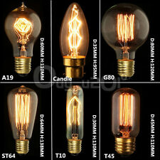 E14/E27/B22 110V/220V Vintage Antique Edison Style Carbon Filament Bulb Light
