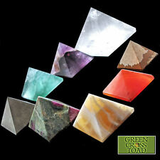 Pyramides 25mm pierre crystal guérison orgone charge Reiki Feng Shui