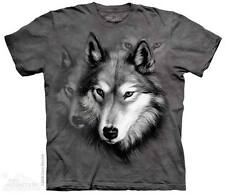 THE MOUNTAIN WOLF PORTRAIT BIG FACE WOLVES CUTE WILD ANIMAL T TEE SHIRT S-5XL