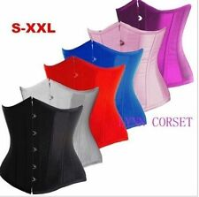 Sexy Underbust Basque Gothic Corset Lace up Boned Waist Training Bustier Tops