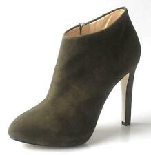 new Giuseppe ZANOTTI olive suede heels PLATFORMS ankle BOOTS - gorgeous