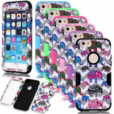 Elephant Waves Pattern Hybrid Shockproof Matt Cases Cover For iPhone 6 6S Plus