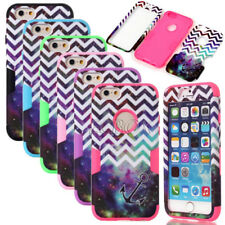 Armor Chevron Anchor Dual Layer Shockproof Matte Case Cover For iPhone 6 6S Plus