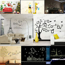 Removable Vinyl PVC Quote Kids Decal Art Mural Home Decor Room Wall Sticker LOT