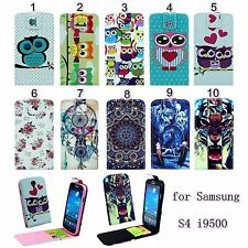 1pc Flip Magnetic PU Leather Vertical Case Cover For Samsung Galaxy S4 i9500