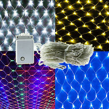 New 96/200/880 LED Bulbs Mesh Net String Fairy Lights Xmas Party Wedding Outdoor