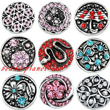 1PC Fashion Crystal Enamel Snap Button for Buckle Charm Bracelet Gift DIY