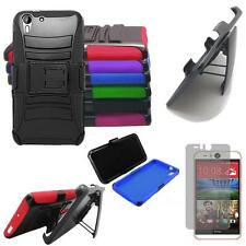Phone Case For HTC Desire Eye Holster Rugged Cover Kickstand Screen Protector
