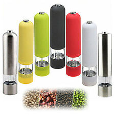 Electric ABS Plastic Kitchen Tool Spice Sauce Salt Pepper Mill Grinder Muller US