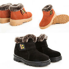 Hot Boy Girl Winter Boots Kids Children Warm Real Leather Snow Boots Short Shoes
