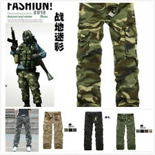 Cool Fashion Casual Men's Military Army Cargo Camo Combat Work Trousers Pants