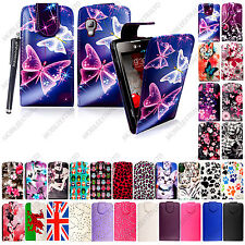 For Various LG Mobile Phones New Printed Leather Magnetic Flip Case Cover+Stylus
