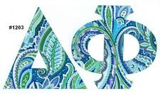 Any Fraternity Sorority Greek IronOn NoSew Letters All Available Alpha-Omega A-Z