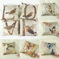 1x Sofa Home Decor Throw Pillow Case Cushion Covers LOVE Birds Butterfly Pattern
