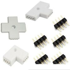 New 1Pcs L T + Shape 4-Pin Female Connector For 3528 5050 5630 RGB  Strip Light