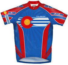 Primal Wear Colorado Flag Cycling Jersey Men's short sleeve bicycle bike + sox