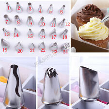 Icing Piping Pastry Fondant Nozzles Cake Sugarcraft Decorating Tools Bags New