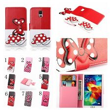 NEW Disney Minnie Mickey PU leather Skin Cover Case for Samsung Galaxy S Phone