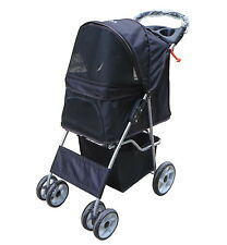 VIVO Four Wheel Pet Stroller / Cat & Dog Foldable Carrier Strolling Cart