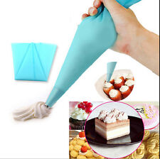 Icing Piping Cream Blue Silicone Reusable Pastry Bag Cake Decorated Tool DIY New